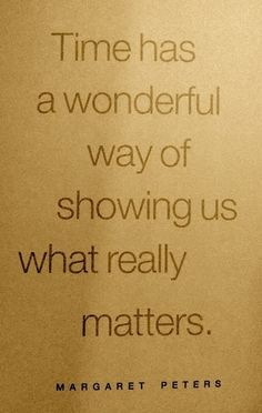 what really matters....