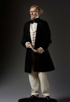 Full length color image of Jefferson Davis aka. President of the Confederate States, by George Stuart.