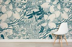 blue-insect-pattern-design-room