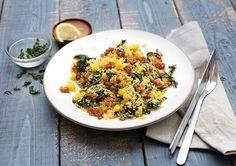 Receptenarchief Winterse couscous met koolraap en kipgehakt Voor jouw gemak is het kipgehakt al gekruid!  Recept
