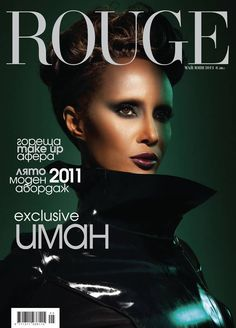 IMAN - ROUGE MAGAZINE MAY/JUNE,201l COVER PHOTOGRAPHED BY MIKE RUIZ