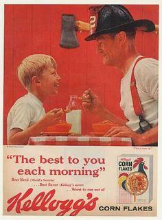 Boy and Fireman Kellogg's Corn Flakes (1959)