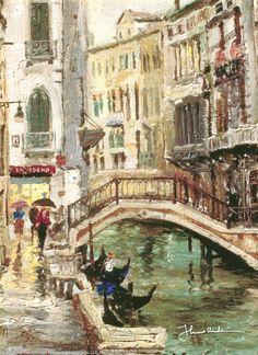 Venice Canal by Thomas Kinkade
