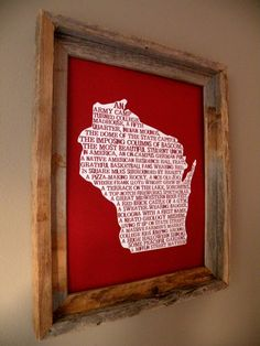 Madison In A Nutshell Word Art Map Print by fortheloveofmaps, $22.00 Wisconsin Badgers!