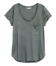 Jersey Top   Dark gray   Ladies   H&M US