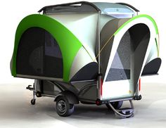 Sylvan Sports Pop Up Camper    When it's folded, it has racks to haul your bikes, kayaks, and other gear!!!
