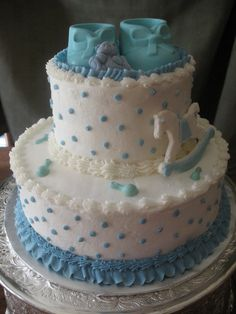 BUTTER CREAM BABYSHOWWER CAKES | This Baby Shower Cake Was An Almond Butter  Cake With Buttercream