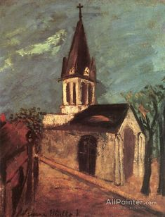 Maurice Utrillo Eglise De Marolles oil painting reproductions for sale Modigliani, Auguste Herbin, Monuments, Maurice Utrillo, Art Transportation, Oil Painting Reproductions, Chapelle, Traditional Paintings, Painting Process