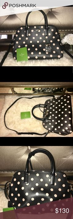 Kate Spade Bag ♠️ Never worn but unfortunately I took the tags off :(. I had it in storage for a while so there is a small scratch on the top as shown in a photo. There is also creasing on the tote strap and on the back of the bag as seen in the pictures. I think that creasing will go away after the bag is actually used and filled with items, but I will take that into consideration for the price. Feel free to comment with additional questions! :) Send me offers!💗 kate spade Bags Crossbody…