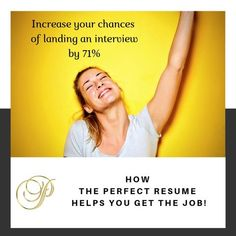 How The Perfect Resume will get you the job! One Job, Get The Job, Resume Review, Professional Resume Writers, Perfect Resume, Resume Help, Recruitment Agencies, List Of Jobs