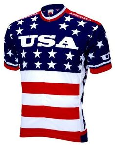 American Flag Cycling Jersey - Chris thinks he won't be harassed as much if he wears this when he rides ;)