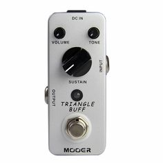 54.73$  Watch now - http://aliorv.worldwells.pw/go.php?t=32733572553 - Mooer Triangle Buff Fuzz Pedal /Full metal shell True bypass Guitar effect pedal 54.73$