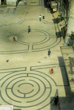 portuguese cobblestone sidewalk, Martim Moniz, Lisbon