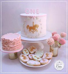 Carousel Horse themed party table treats - Cake by Nipuni Sangakkara - Petit Pot Cakes
