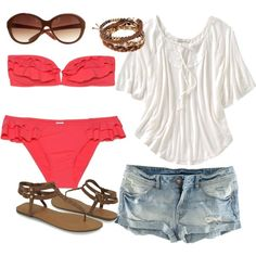 """""""Another Day at the Beach"""" by sbigg11 on Polyvore"""