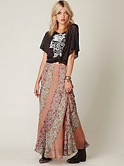 Free People Pieced Together Maxi Skirt #freepeople #fashion #skirt