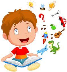 Little boy reading book education concept vector image on VectorStock School Clipart, Class Decoration, Kids Reading, Reading Library, Cartoon Kids, Halloween Make Up, Classroom Decor, Little Boys, Books To Read
