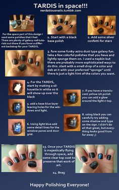 TARDIS nails <3