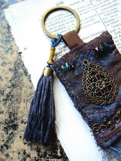 keyring  a drop of night  ornament bag door frenchmanufacture, $16.00