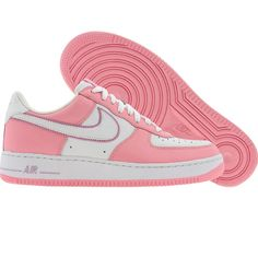 Nike Womens Nike Air Force 1 Low (white / white / pink mist / real pink) 307109-117 - $89.99