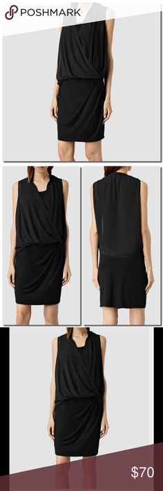 🆕All Saints Black Siri  Dress All Saints Black Siri Dress- Main Fabric 100% Viscose Top 100% Polyester- Dry Clean All Saints Dresses