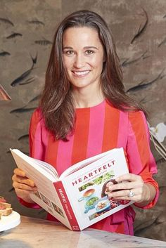 Pippa Middleton wearing Tabitha Webb Edie Dress in Red and Pink Stripe