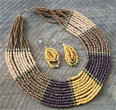 "Fair Trade Bead Necklace 17"", Pierced Earrings, starting at $8."