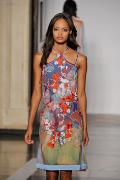Jonathon Saunders - 70s colour palette however the collection isnt dated as illustrative Hawaiian florals and beautiful silk thread embroideries kept the look pretty