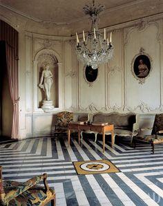 Chateau de Barbantane in Provence. note the beautiful Rococo scrolls on the boiserie