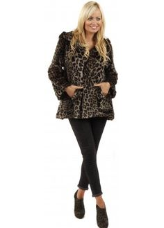 Urbancode Faux Fur Mist Grey Duffle Coat | Designer Faux Fur