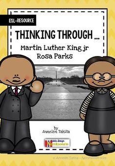 Thinking Through: Martin Luther King jr and Rosa Parks (ESL resource) Undervisningsopplegg i engelsk - Tren tanken Esl Resources, Vocabulary List, Rosa Parks, King Jr, Martin Luther King, Student, Teaching, School, Food