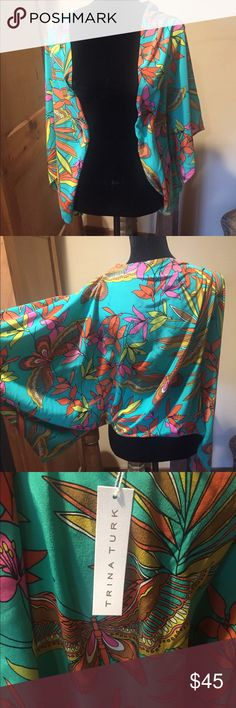 """Trina Turk NWT XS/S flutter sleeve top- gorgeous New with tags- beautiful Trina Turk brand flutter sleeve top- must see! Size xs/s.  My mannequin is definitely closer to a large, so it should fit more """"drapey"""" than in pics. Trina Turk Tops"""