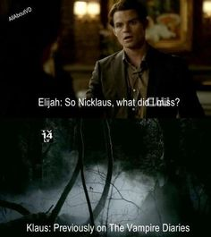 Funny Vampire Diaries Quotes | Klaus & Elijah funny :D - The Vampire Diaries TV Show Fan Art ...