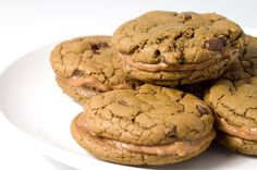 Chocolate Chip and Nutella Cream Sandwich Cookies. I am seriously addicted to this stuff