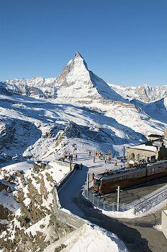 Gornergrat station - Matterhorn, Canton of Valais, Switzerland