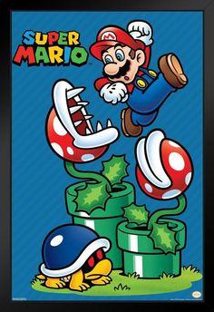 Retro Poster, Print Poster, Super Mario World, Mario Brothers, Mario And Luigi, Video Game Art, Cartoon Wallpaper, Cartoons, Art Prints