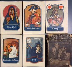 c1930 Rare German Antique Fortune Telling Playing Cards 32/32 + Box Cartomancy #GERMAN