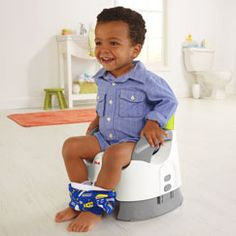 Custom comfort features help make potty training easier.  Here's a simple, obvious, but often overlooked potty training tip: A potty that helps little ones feel comfortable, secure and relaxed helps make potty training easier! With two adjustable