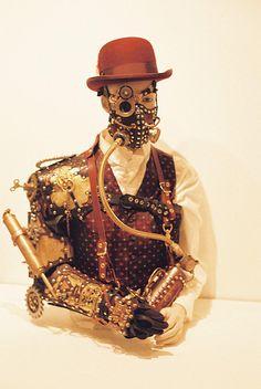 Steampunk museum exhibition piece