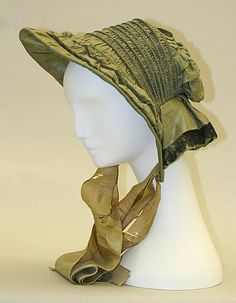 Poke bonnet Date: ca. 1860 Culture: American Medium: silk Dimensions: Length: 10 in. (25.4 cm) Credit Line: Bequest of Maria P. James, 1910 Accession Number: 11.60.238