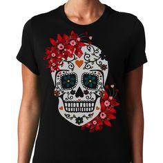 Sugar Skull T-Shirts, Hoodies. GET IT ==► Funny Tee Shirts