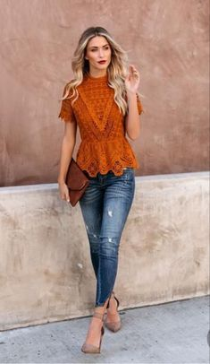 25 Popular Jeans Outfit Ideas * remajacantik Source by Carlinzaly jeans Spring Outfits, Trendy Outfits, Fashion Outfits, Womens Fashion, Casual Preppy Outfits, Fashion Sets, Look Fashion, Autumn Fashion, Peplum Top Outfits