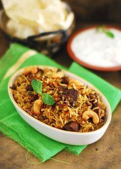 Kerala Style Pressure Cooker Beef Biriyani  | Marias Menu
