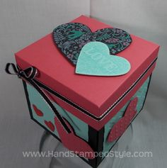 explosion box card | Valentine Explosion Box Tutorial |