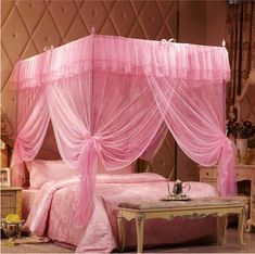 Now available on our store: Pink Romantic Pos... Check it out here! http://jagmohansabharwal.myshopify.com/products/pink-romantic-post-bed-canopy-mosquito-netting-for-all-size?utm_campaign=social_autopilot&utm_source=pin&utm_medium=pin