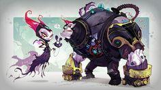 Ratchet & Clank: Into the Nexus Concept Art - Vendra and Neftin Prog
