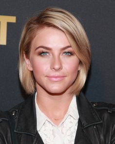 Julianne Hough... This look is so polished. Side part and one side tucked behind the ear.