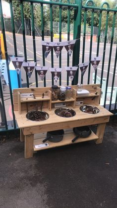 Eyfs outdoor mud kitchen - All About Baby Garden Ideas, Garden Ideas Eyfs, Preschool Playground, Backyard Playground, Playground Ideas, Outdoor Classroom, Outdoor School, Outdoor Areas, Outdoor Play