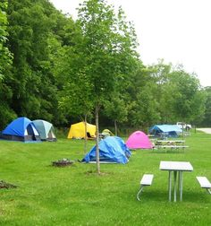 Campsite in Centennial State Park in Madison, Wisconsin.