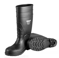TINGLEY 35111 Workbrutes Overshoes PR Pull On S Mens PVC Black